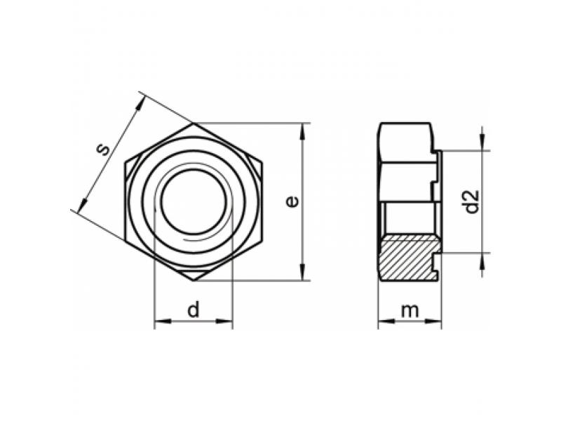 Ecrous hexagonaux à souder DIN 929 brut