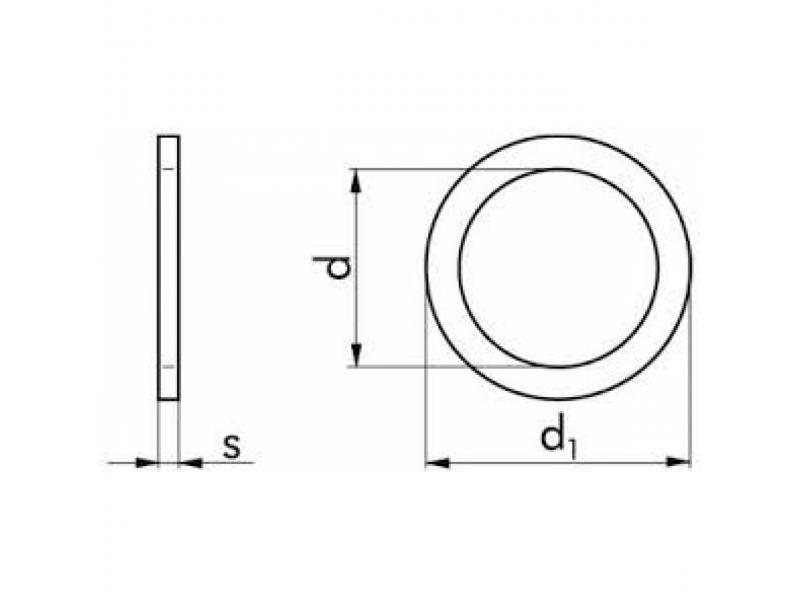 Rondelles d'épaisseur ajustées (de calage) DIN 988 PS