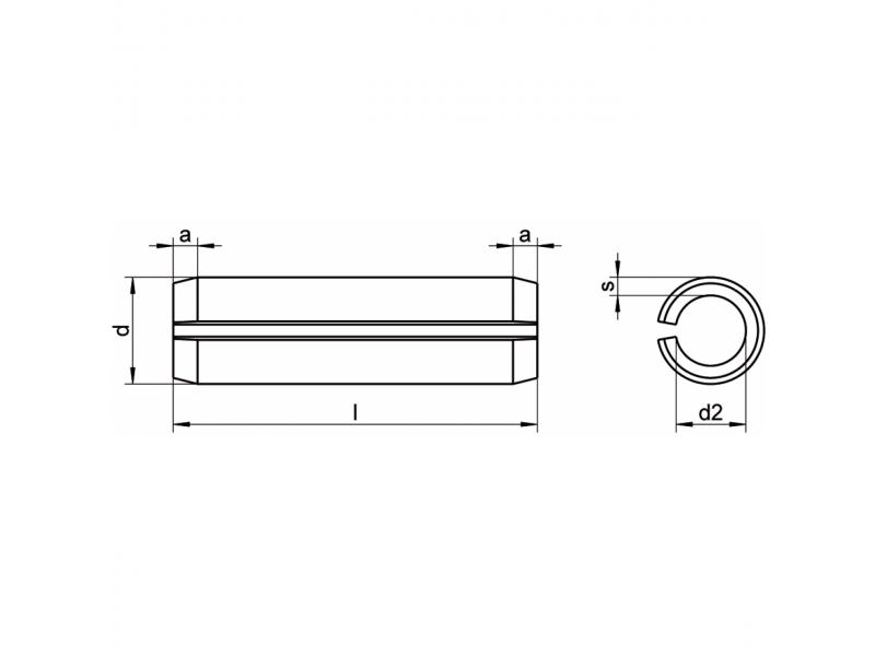 Goupilles élastiques renforcées DIN 1481