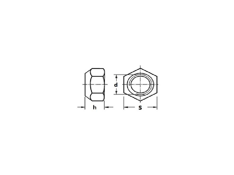 Écrous hexagonaux autofreinés forme VM, tout métal DIN 980 VM zingué