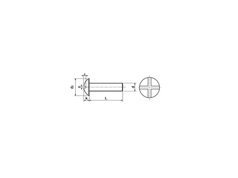 Vis à métaux tête poêlier fendue NFE 25129 4.8 zingué