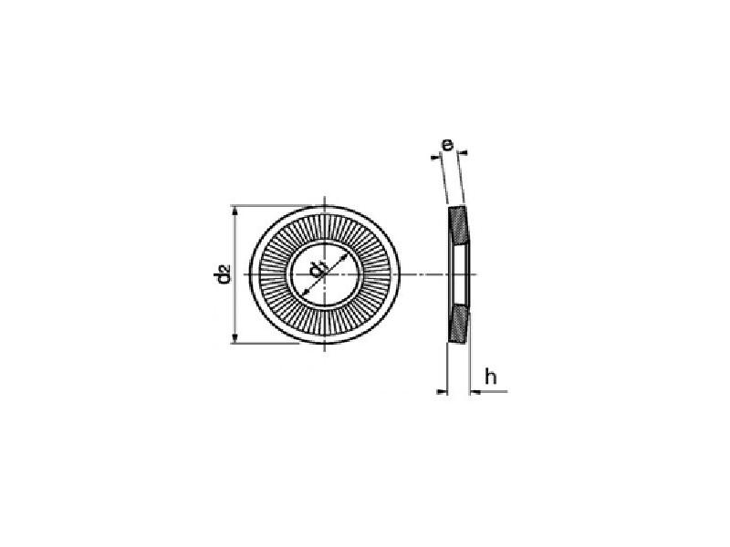 Rondelles contact série moyenne M brut/zingué/a2
