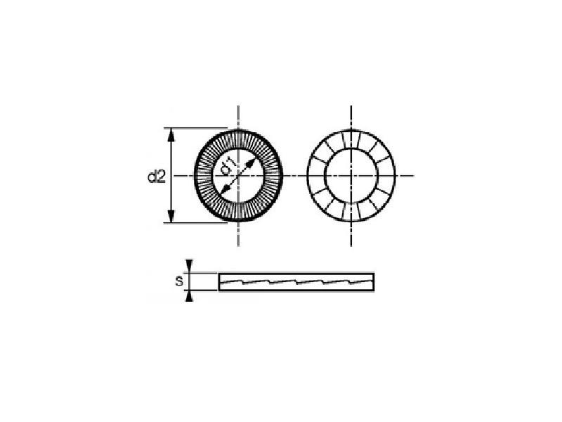 Rondelles lock - rondelles de sécurité à effet de came série standard et large - Delta Protekt