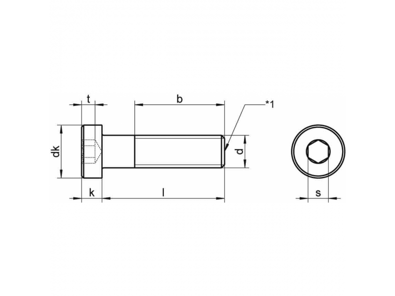 Vis tête cylindrique basse à six pans creux DIN 7984 8.8 / 10.9  brut - zingué
