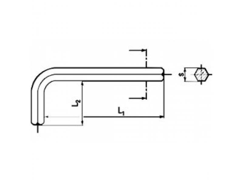 Clés hexagonales de serrage DIN 911 L noirci - série longue - Acier HRC 45-52